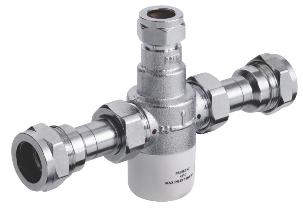 Image of Bristan 15mm Thermostatic Mixing Valve Chrome 70 x 180 x 50mm