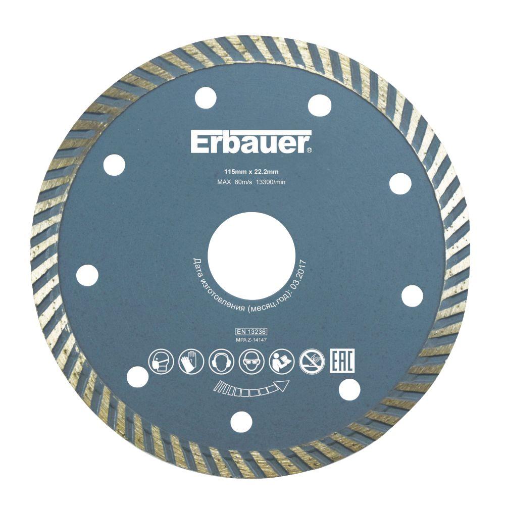 Image of Erbauer Turbo Diamond Blade 115 x 22.2mm