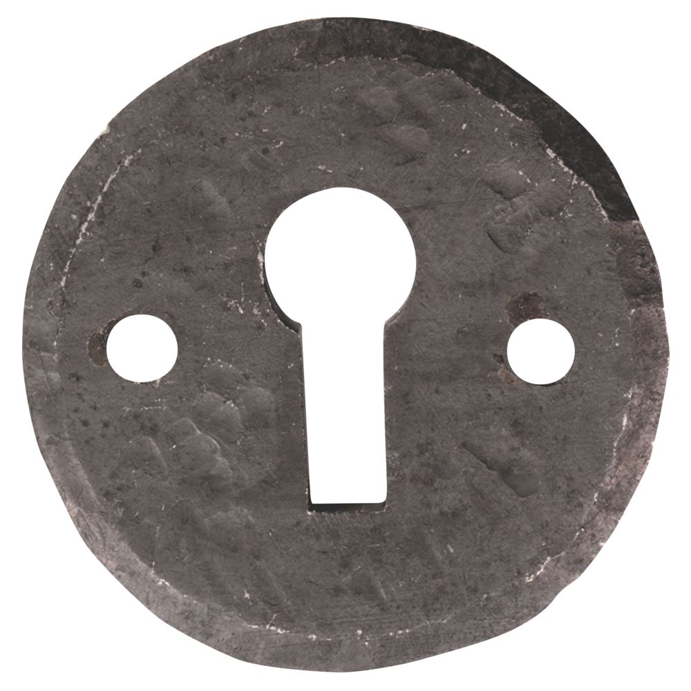 Image of Carlisle Brass Hand-Forged Escutcheon Antique Black 40mm