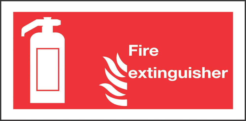 """Image of Fire Extinguisher"""" Signs 100 x 200mm 50 Pack"""