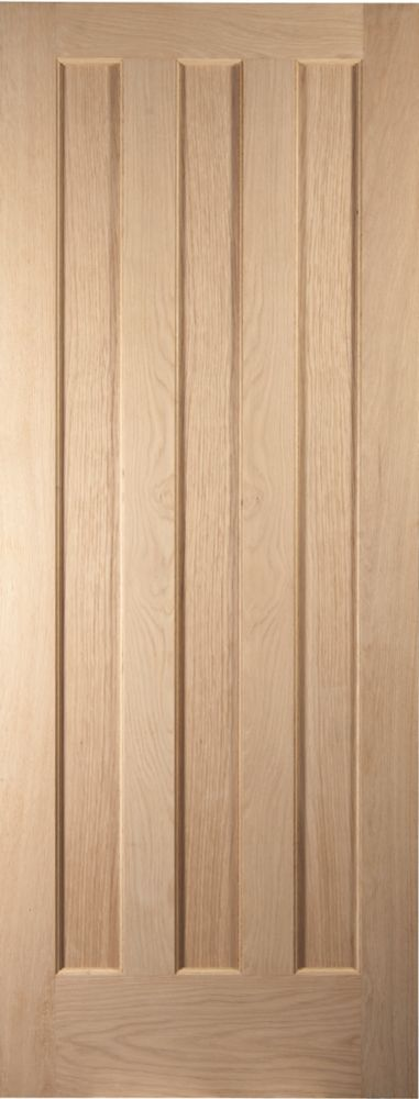 Image of Jeld-Wen Aston 3-Panel Interior Door Oak Veneer 1981 x 762mm