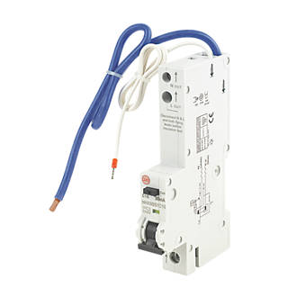 Image of Wylex 10A 30mA SP Type C RCBO