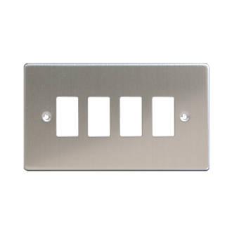 Varilight XDSPG4 4Gang PowerGrid Faceplate Metal