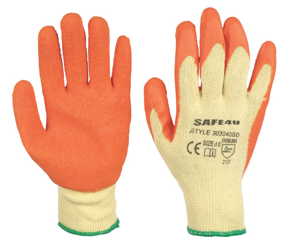 Image of Builders Gloves Orange Large