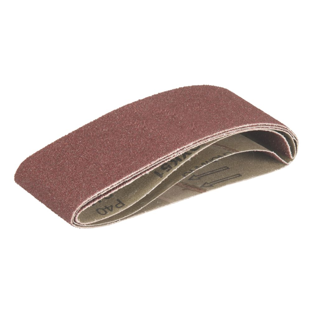 Image of Triton Alox Sanding Belts Unpunched 64 x 406mm 40 Grit 3 Pack