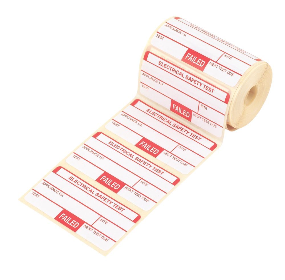 Image of Kewtech Fail Labels Pack of 250