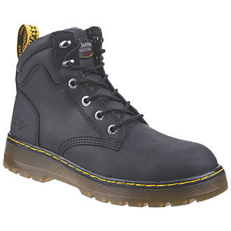 Image of Dr Martens Brace Safety Boots Black Size 8