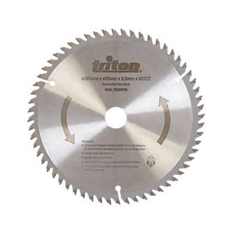 Image of Triton TCT Plunge Saw Blade 165 x 20mm 60T