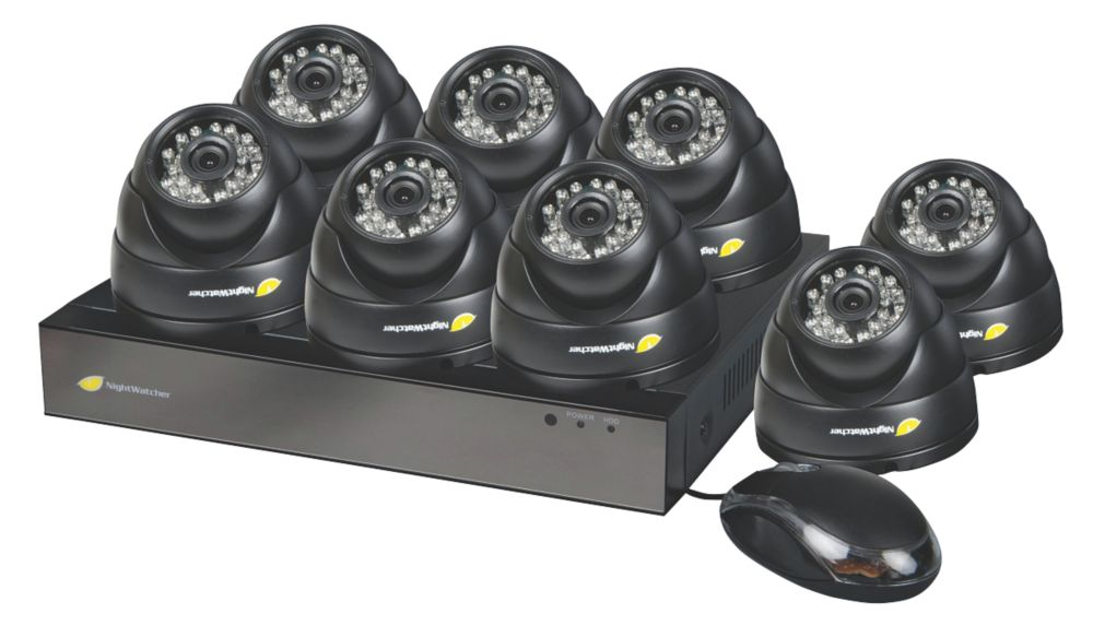 Image of Nightwatcher NW-8AHD-1TB-C720-8D 8-Channel CCTV DVR Kit & 8 Cameras