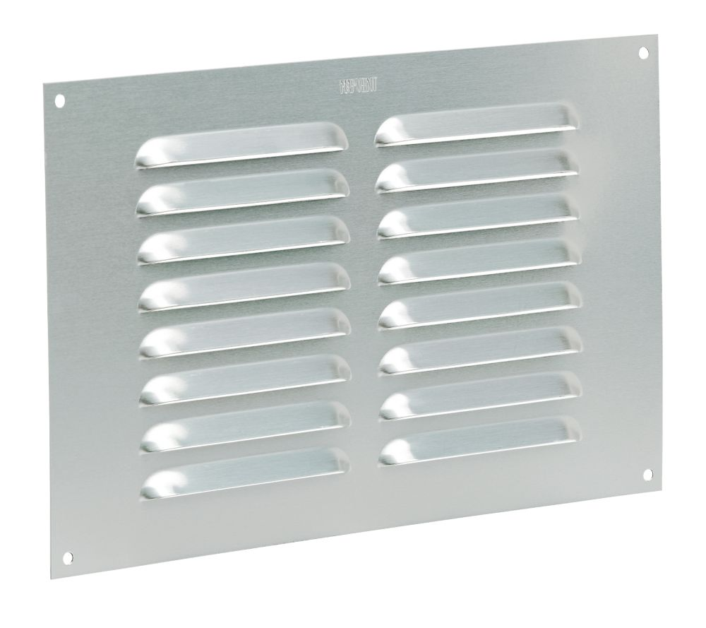 Image of Map Vent Fixed Louvre Vent Silver 229 x 152mm