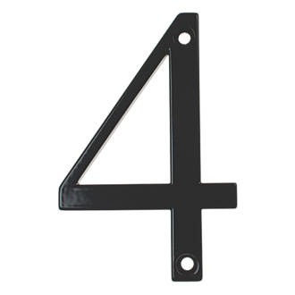 Image of Fab & Fix Door Numeral 4 Black 80mm