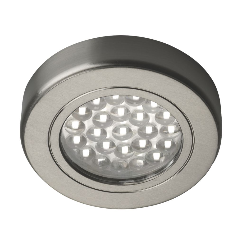 Image of Sensio LED Cabinet Downlights Stainless Steel 3 Pack