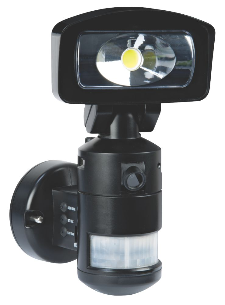 Image of Nightwatcher NW720B 11W LED Robotic Light & HD Camera PIR Black 2GB
