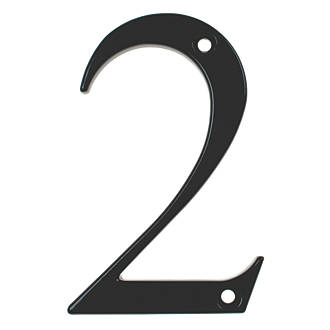 Image of Fab & Fix Door Numeral 2 Black 80mm