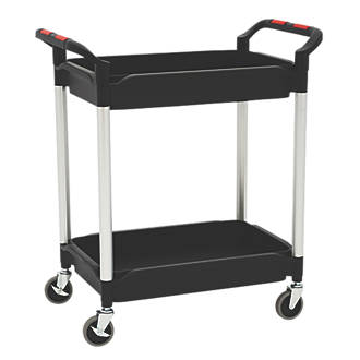 Image of Proplaz Plus Black 2-Shelf Tub Trolley