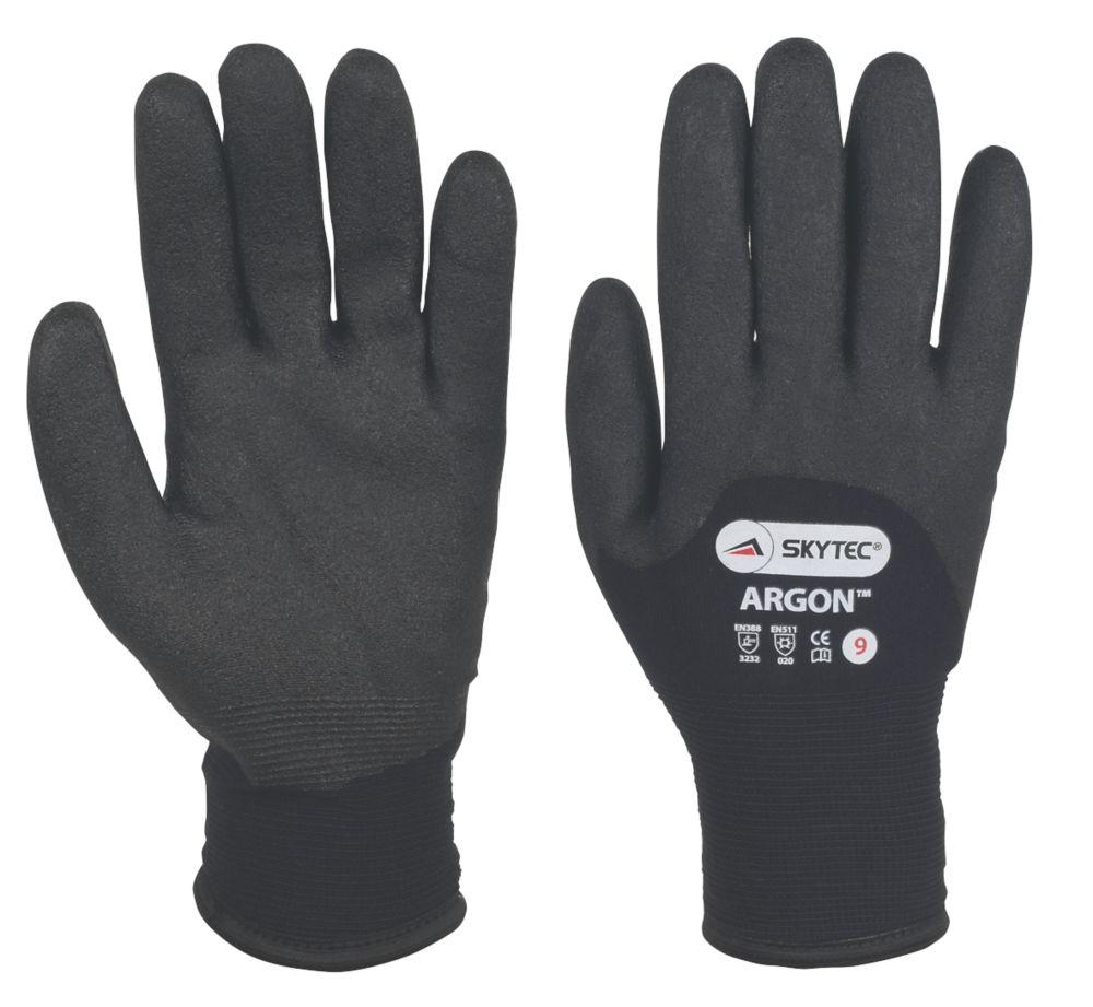 Image of Skytec Argon Thermal Grip Gloves Black Large