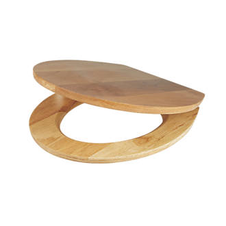 top fixing wooden toilet seat. Cooke and Lewis Standard Closing Toilet Seat Solid Oak Natural Seats  Covers Bathrooms Screwfix com