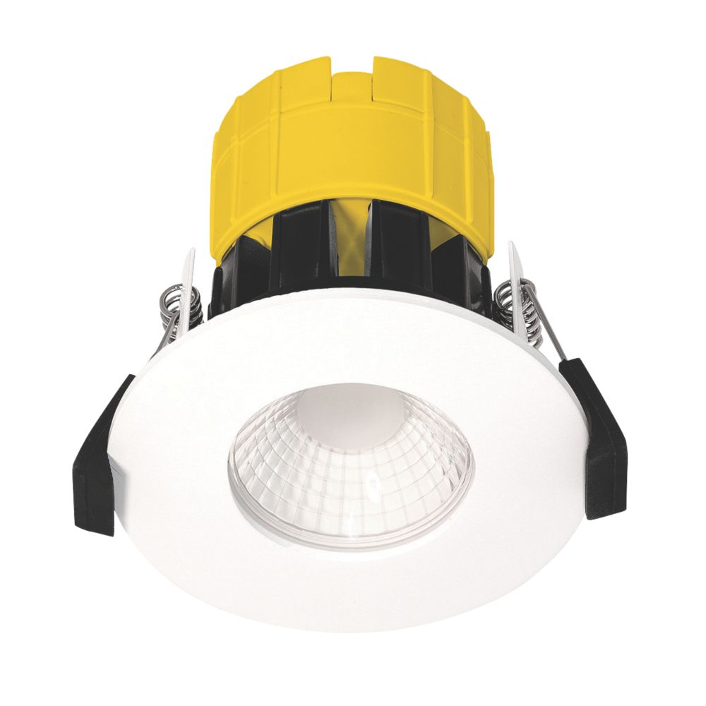 Image of Luceco Dim2Warm FType Fixed Fire Rated LED Downlight White 460lm 6W 220-240V