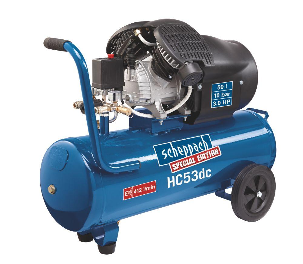Image of Scheppach HC53DC 50Ltr Twin Cylinder Air Compressor 240V