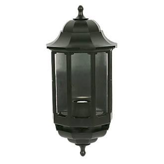 Image of ASD 60W Black Half Lantern Wall Light