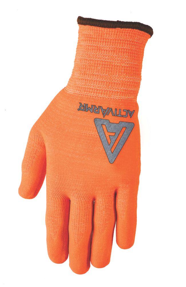 Image of Ansell Cut 5 Mercury Kevlar Gloves Orange Large