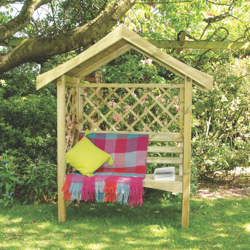 Image of Forest Sienna Arbour Seat 1.7 x 0.7 x 2m