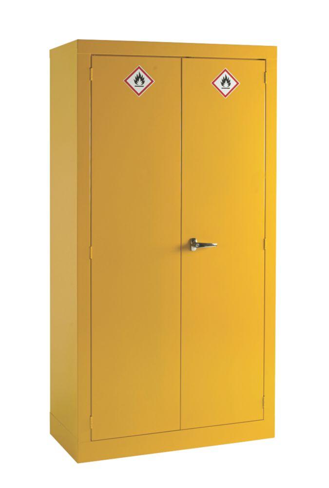Image of Hazardous Substance Cabinet Yellow 915 x 457 x 1830mm