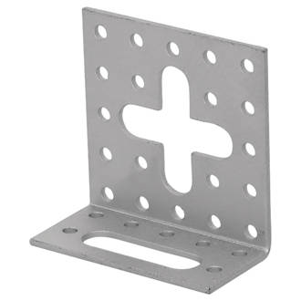 Image of Magnodur Adjustable Angle Bracket Matt Steel 30 x 60 x 60mm 10 Pack
