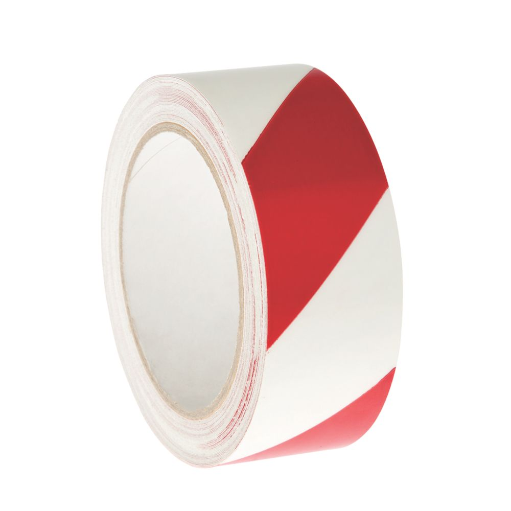 Image of Nite-Glo Chevron Safety Tape Luminescent / Red 40mm x 10m