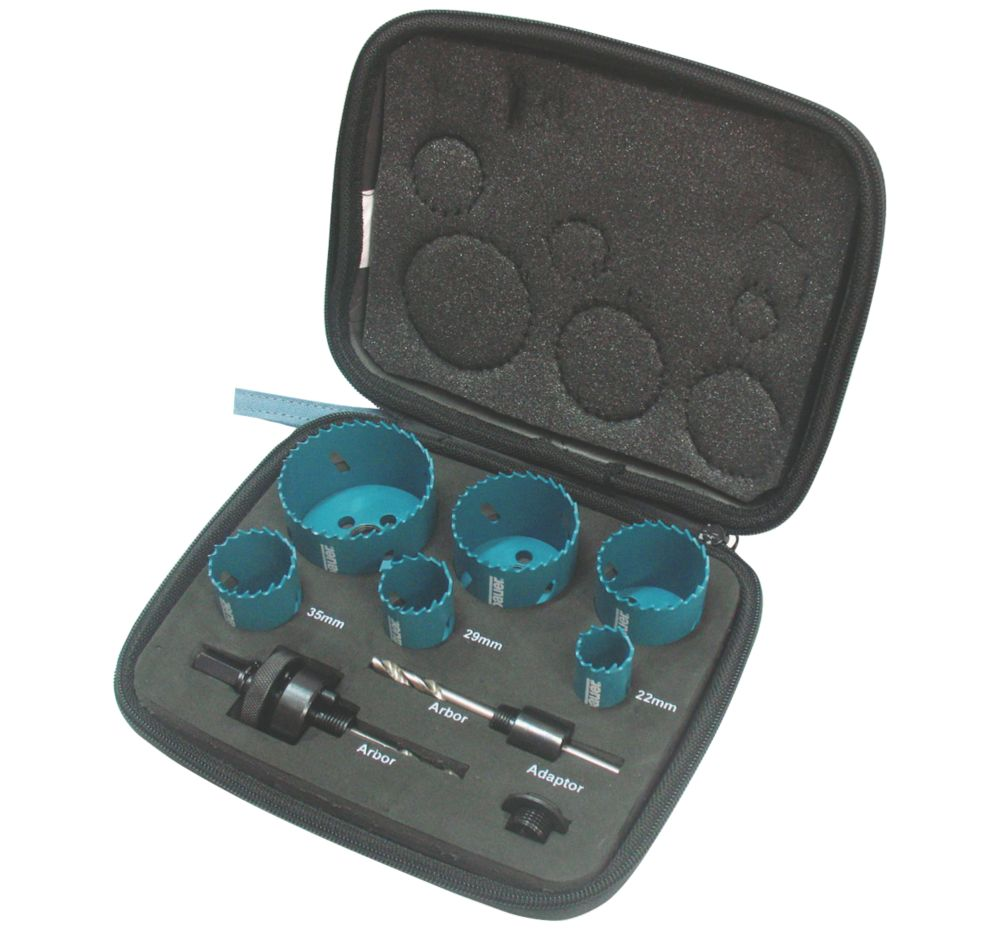 Image of Erbauer Electricians Holesaw Kit 9 Pieces