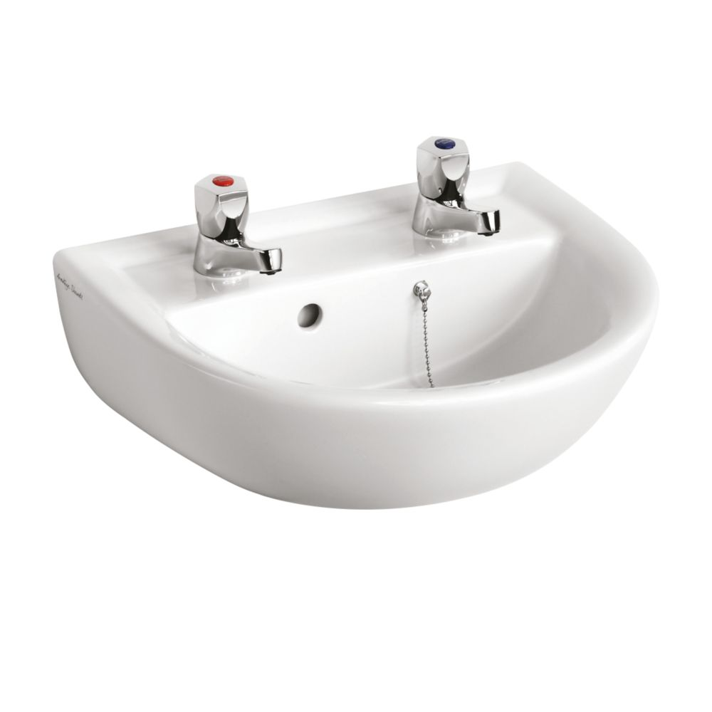 Image of Armitage Shanks Sandringham 21 Basin 2 Tap Holes 450mm