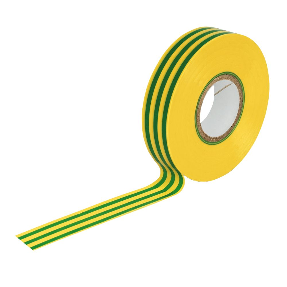 Image of Insulating Tape Green / Yellow 19mm x 33m