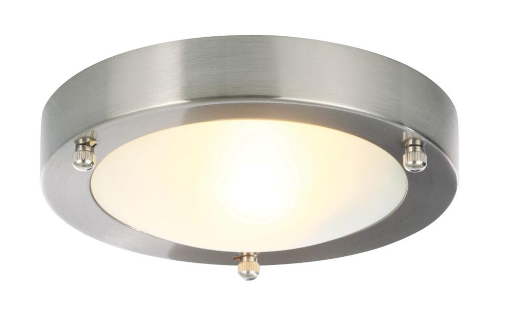 Bathroom Lights Screwfix spa canis bathroom ceiling light stainless steel g9 28w | flush