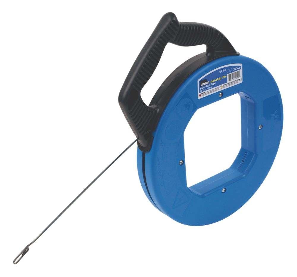 Image of Ideal Tuff-Grip Pro Fish Tape Carbon-Blued Steel 18m
