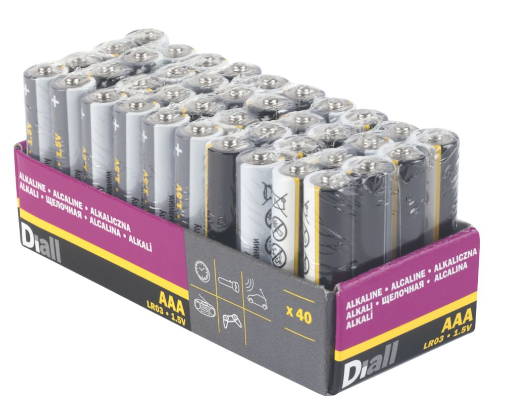 Image of Alkaline AAA Batteries 40 Pack
