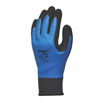 Image of Showa 306 Gloves Blue/Black Medium