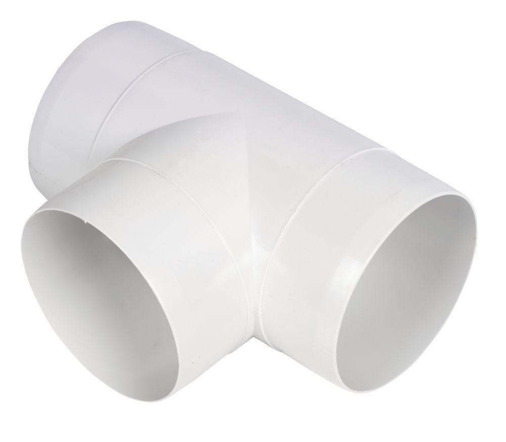 Image of Manrose Circular T Piece White 100mm