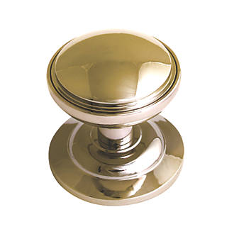 Image of Fab & Fix Decorative Round Door Knob Polished Gold 75mm