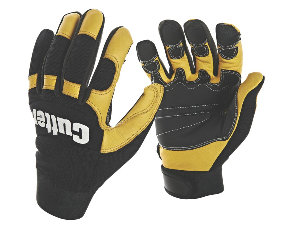 Image of Cutter CW800 Work Gloves Black / Yellow Large
