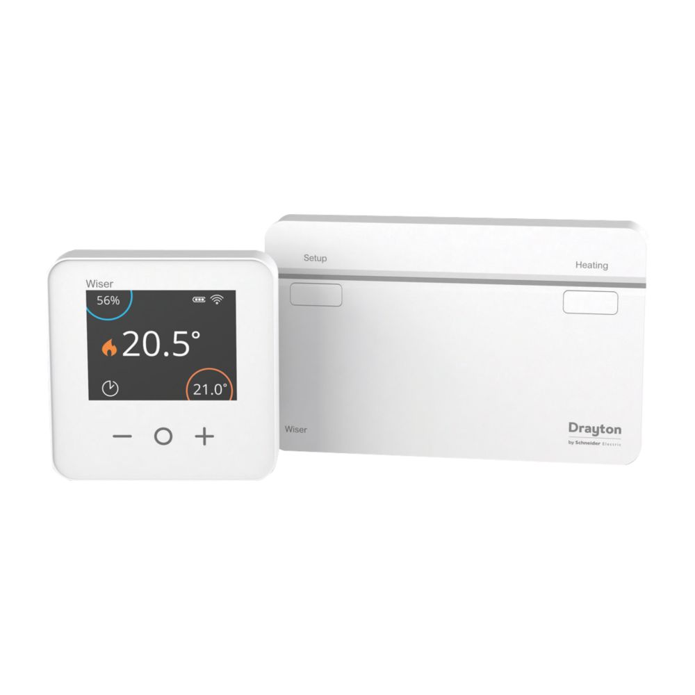 Image of Drayton 1-Channel Wiser Thermostat Control Kit White
