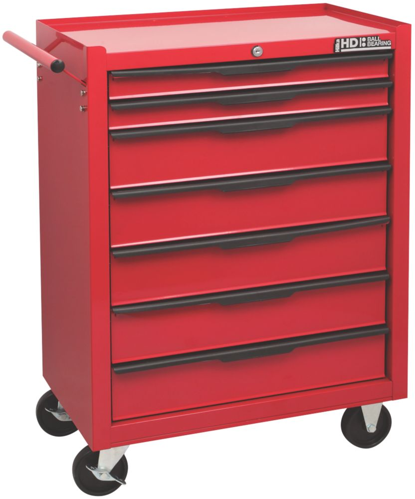 Image of Hilka Pro-Craft 7-Drawer Mobile Trolley with Ball Bearing Drawer Slides