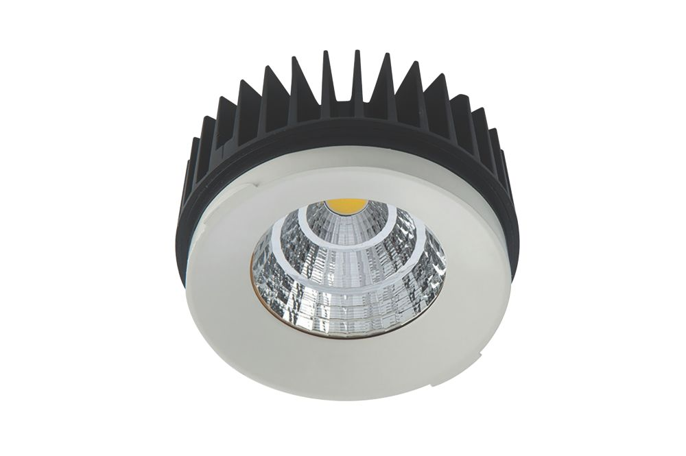 Image of Luceco Fixed Semi-Recessed LED Downlight 1100lm White 15W