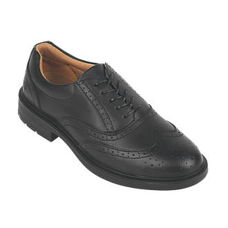 Image of City Knights Brogue Safety Shoes Black Size 7