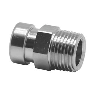 """Image of Tectite Sprint Brass Push-Fit Adapting Male Iron Coupler 15mm x ½"""""""