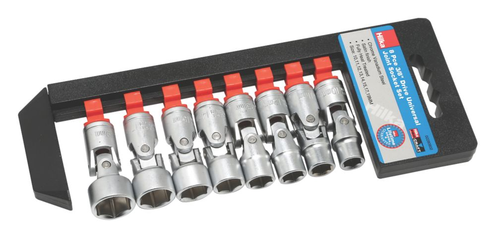 "Image of Hilka Pro-Craft 3/8"" Universal Joint Socket Set 8 Pieces"