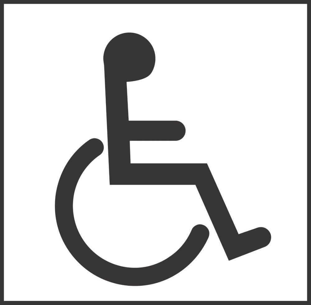 Bathroom Sign Handicap disabled toilet symbol sign 150 x 150mm | disabled signs