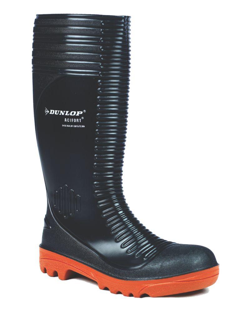 Image of Dunlop Safety Footwear Acifort A252931 Safety Wellingtons Black Size 8