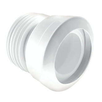 Image of McAlpine MACFIT MAC-1 WC Straight Pan Connector White 90-112mm