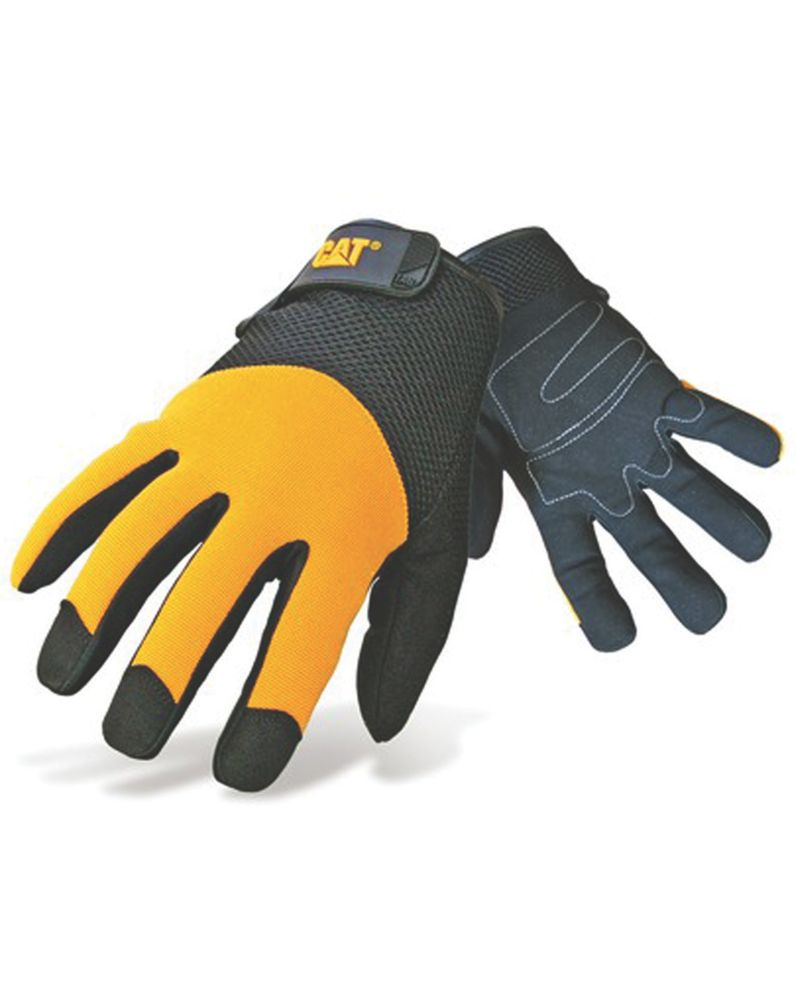 Image of CAT Padded Palm Utility Padded Palm Gloves Yellow Large