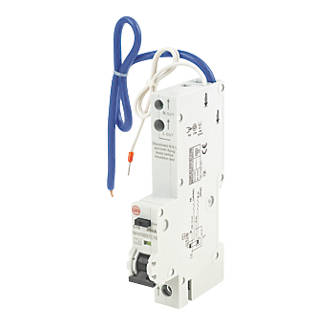 Image of Wylex 16A 30mA SP Type C RCBO